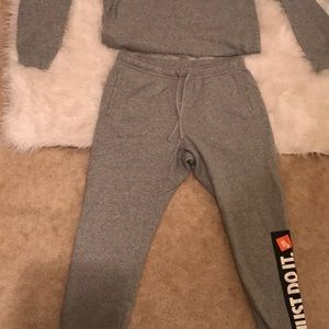 Nike Just Do It Joggers (Mens XL)- Gray sweat suit